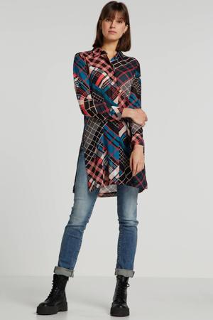 blouse met all over print multi