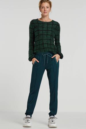 geruite trui groen/zwart