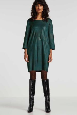 imitatiesuède jurk groen