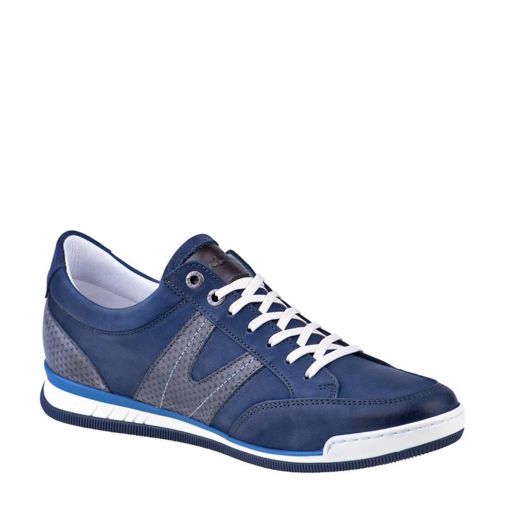 Van Lier 1917407 leren sneakers blauw, Blauw