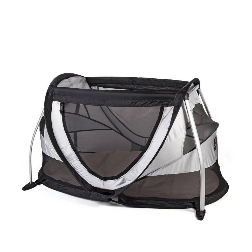 Deryan peuterbox - campingbedje - silver, Zilver