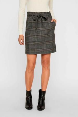 geruite rok grijs/zwart