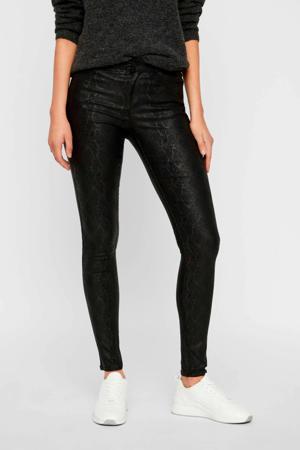 vero moda coated skinny broek met slangenprint zwart zwart 5714497671609 - G Star Broek Met Ritsjes