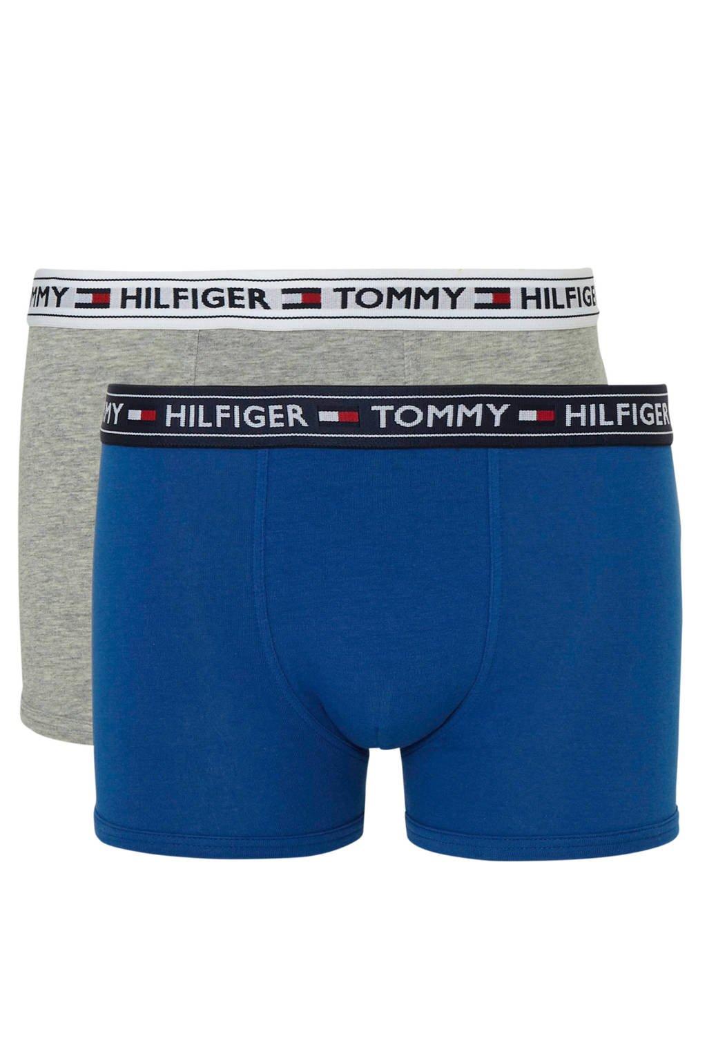 Tommy Hilfiger Junior  boxershort - set van 2 blauw/grijs melange, Blauw/grijs melange