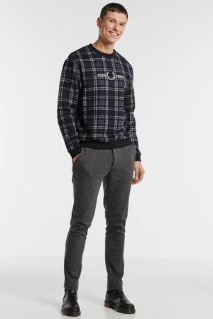 geruite sweater zwart/wit