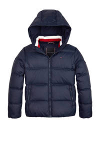 Tommy Hilfiger winterjas met dons donkerblauw, Donkerblauw