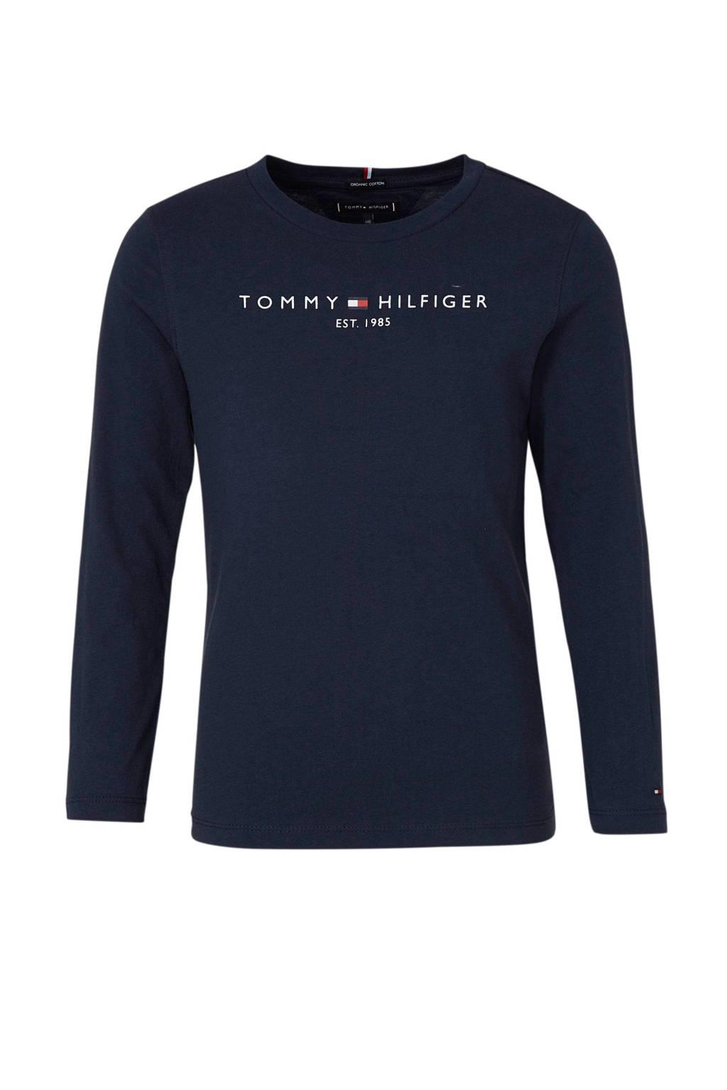 Tommy Hilfiger longsleeve met logo donkerblauw, Donkerblauw
