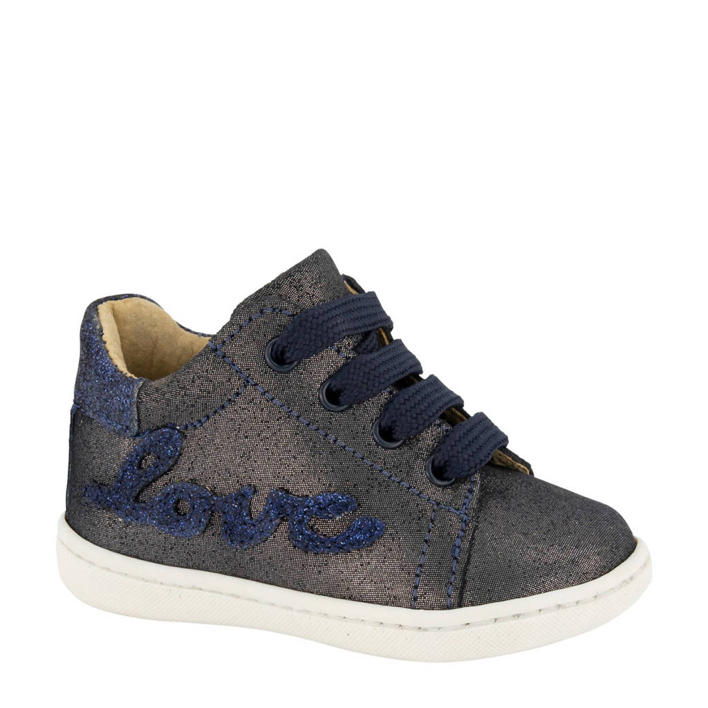 Cupcake Couture   leren sneakers donkerblauw, Blauw