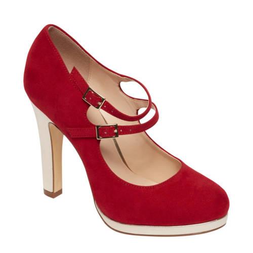 Graceland sandalettes rood-goud