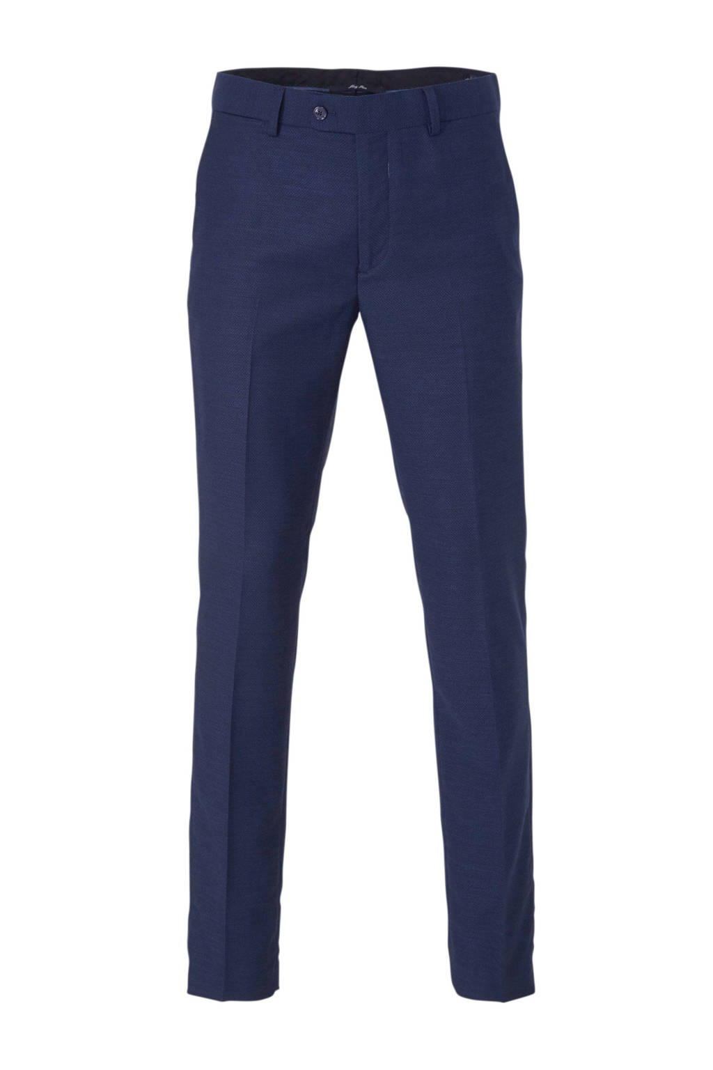 Mango Man regular fit pantalon donkerblauw, Donkerblauw