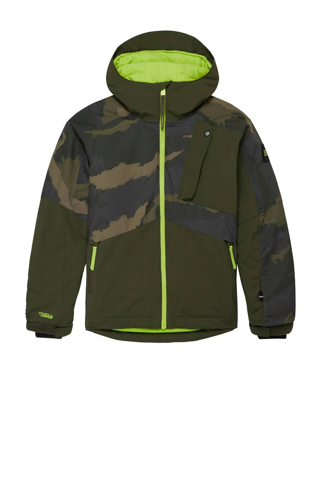 O'Neill ski-jack Aplite camouflageprint, Kaki