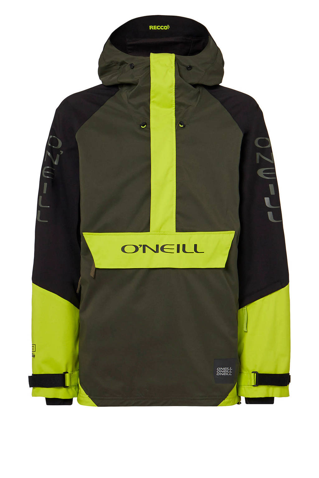 O'Neill anorak Original kaki/limegroen/zwart, Kaki/limegroen/zwart