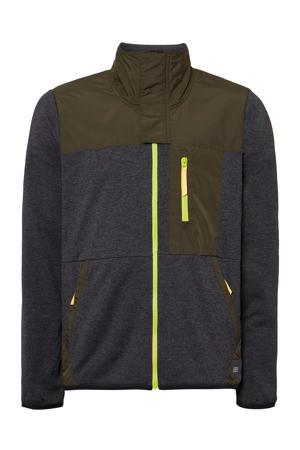 fleece ski-vest Andesite zwart