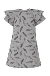 Babystyling baby jurk met all over print grijs, Grijs