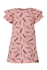 Babystyling baby jurk met all over print roze, Lichtroze