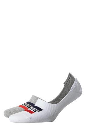 sneakersokken (2 paar) wit