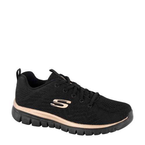 Skechers sneakers zwart-goud