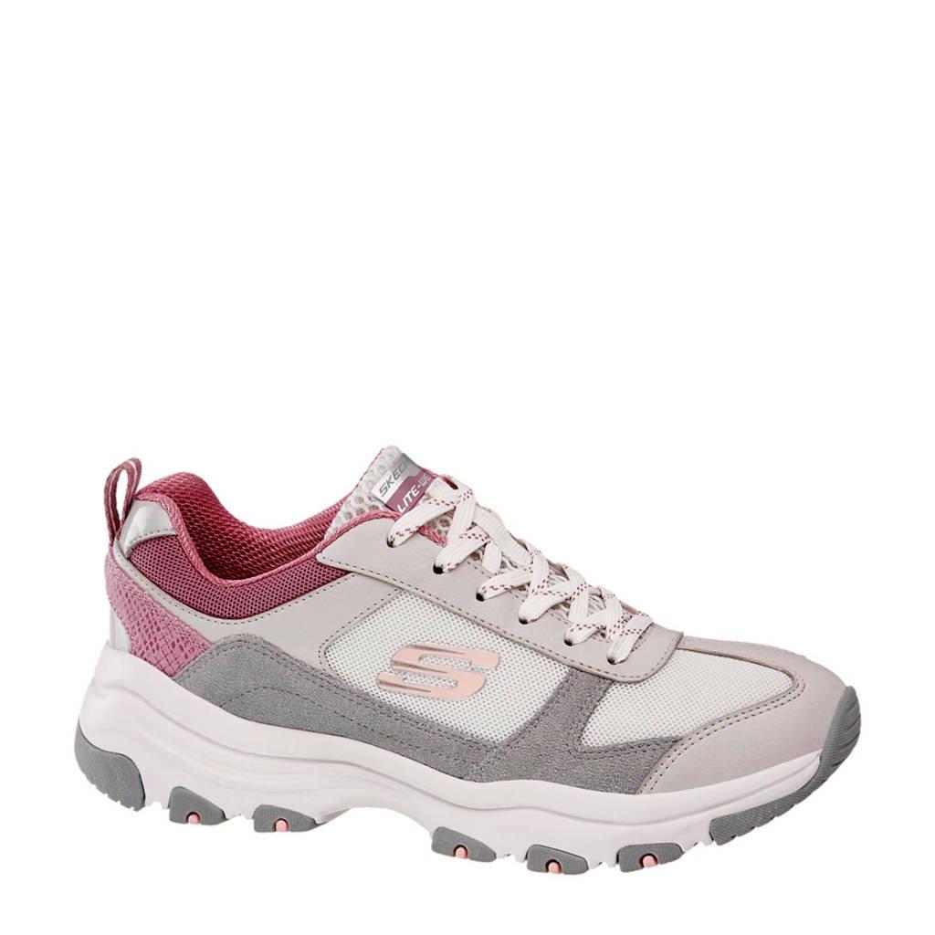 Skechers   sneakers wit/roze/grijs, Wit/roze/grijs