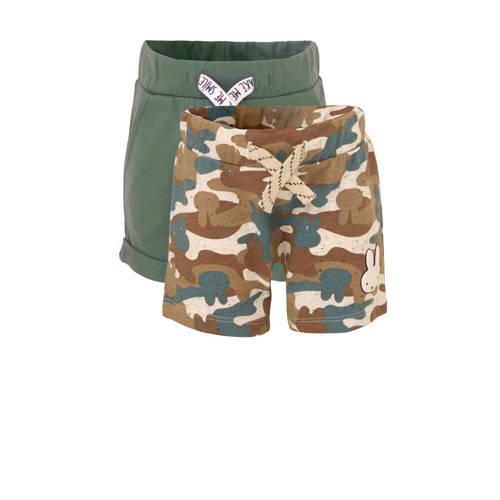 C&A nijntje baby sweatshort met camouflageprint groen-kaki set van 2
