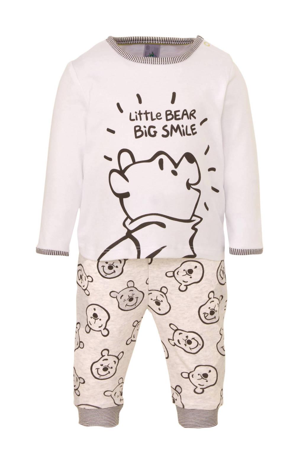 Disney Winnie the Pooh @ C&A   pyjama met printopdruk wit/grijs, Wit/grijs
