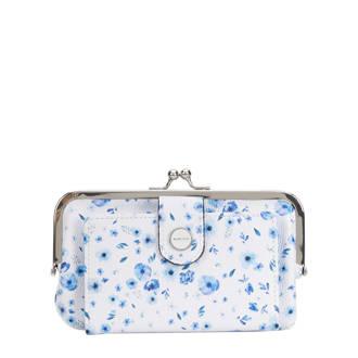 gebloemde portemonnee blauw