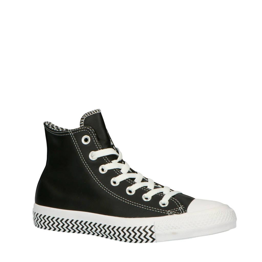 Converse  Chuck Taylor All Star Hi sneakers zwart/wit, Zwart