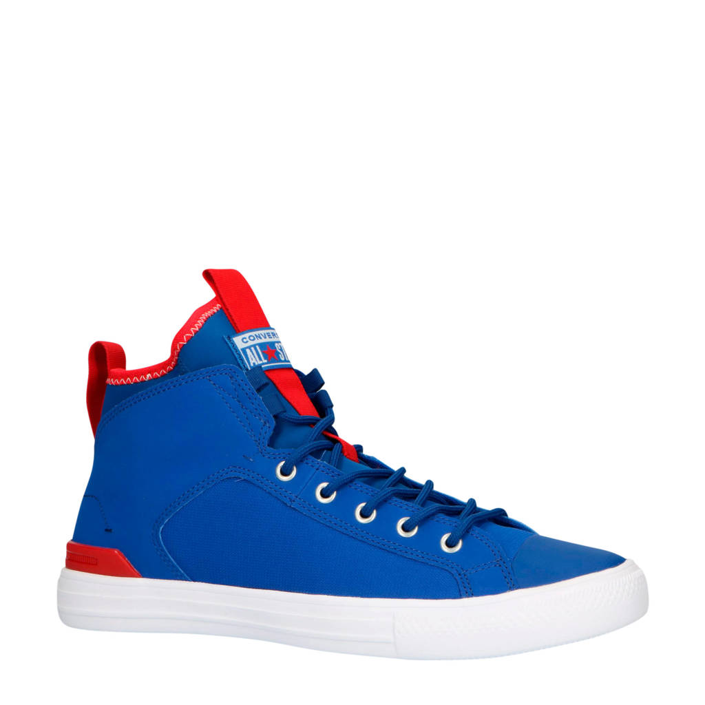 Converse  Ctas Ultra Mid sneakers blauw/rood/wit, Kobaltblauw/rood/wit