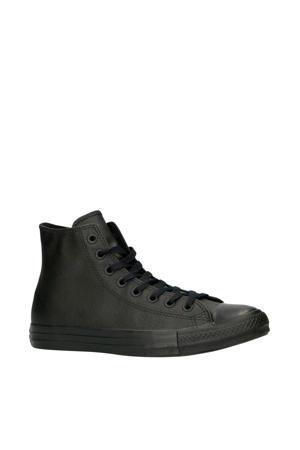 Chuck Taylor All Star Hi leren sneakers zwart