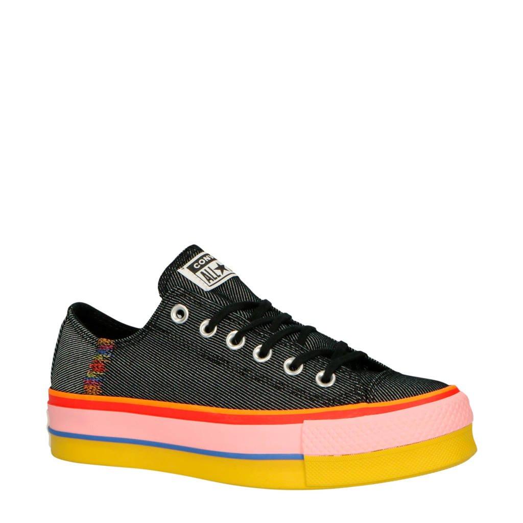 Converse Chuck Taylor All Star Lift OX sneakers zwart/multi, Zwart/multi