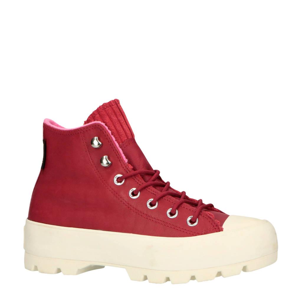 Converse  Chuck Taylor All Star Lugged veterschoenen rood, Rood/roze