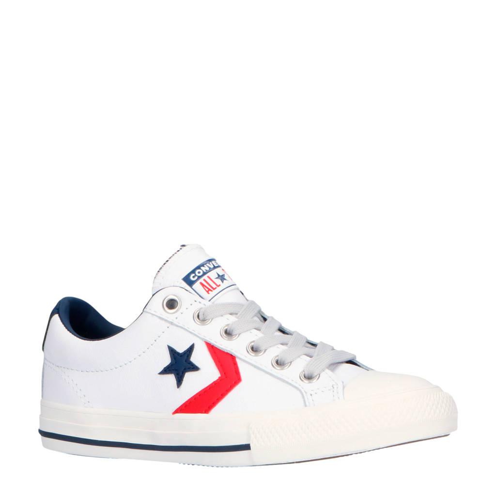 Converse  Star Player EV OX sneakers wit/blauw/rood, Wit/blauw/rood
