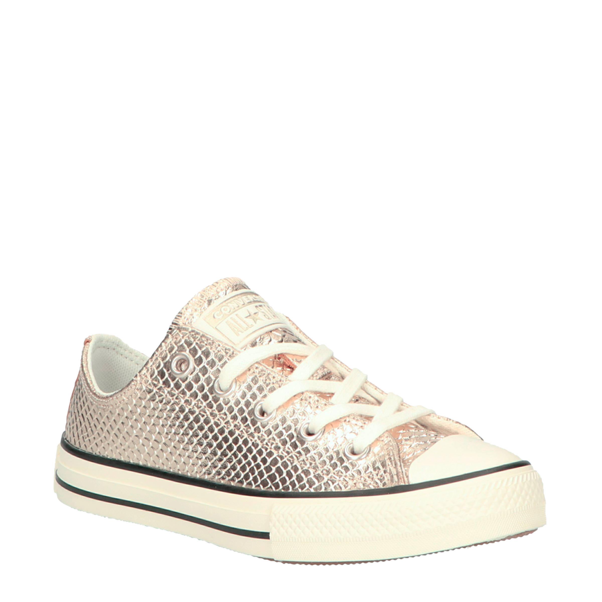 Converse Chuck Taylor All Star OX leren sneakers goud | wehkamp