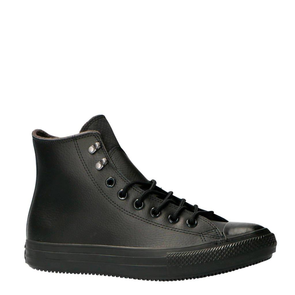 Converse  Chuck Taylor All Star Winter Hi leren sneakers zwart, Zwart