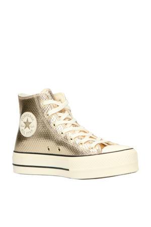 Chuck Taylor All Star Lift Hi plateau sneakers slangenprint goud
