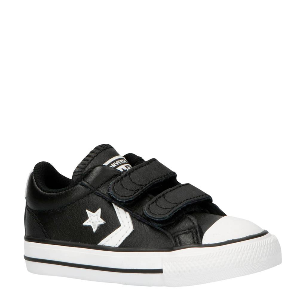 Converse  Star Player EV 2V  leren sneakers zwart, Zwart/wit