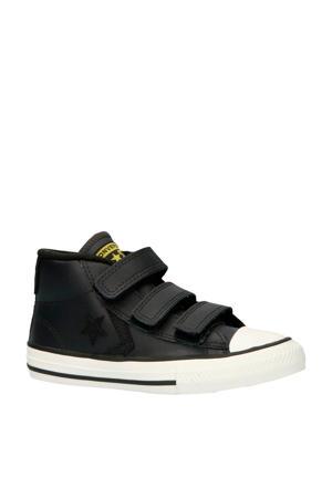 Star Player 3V Mid halfhoge leren sneakers zwart