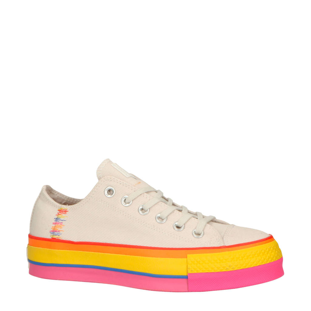 Converse  Chuck Taylor All Star Lift OX sneakers beige/multi, Beige/multi