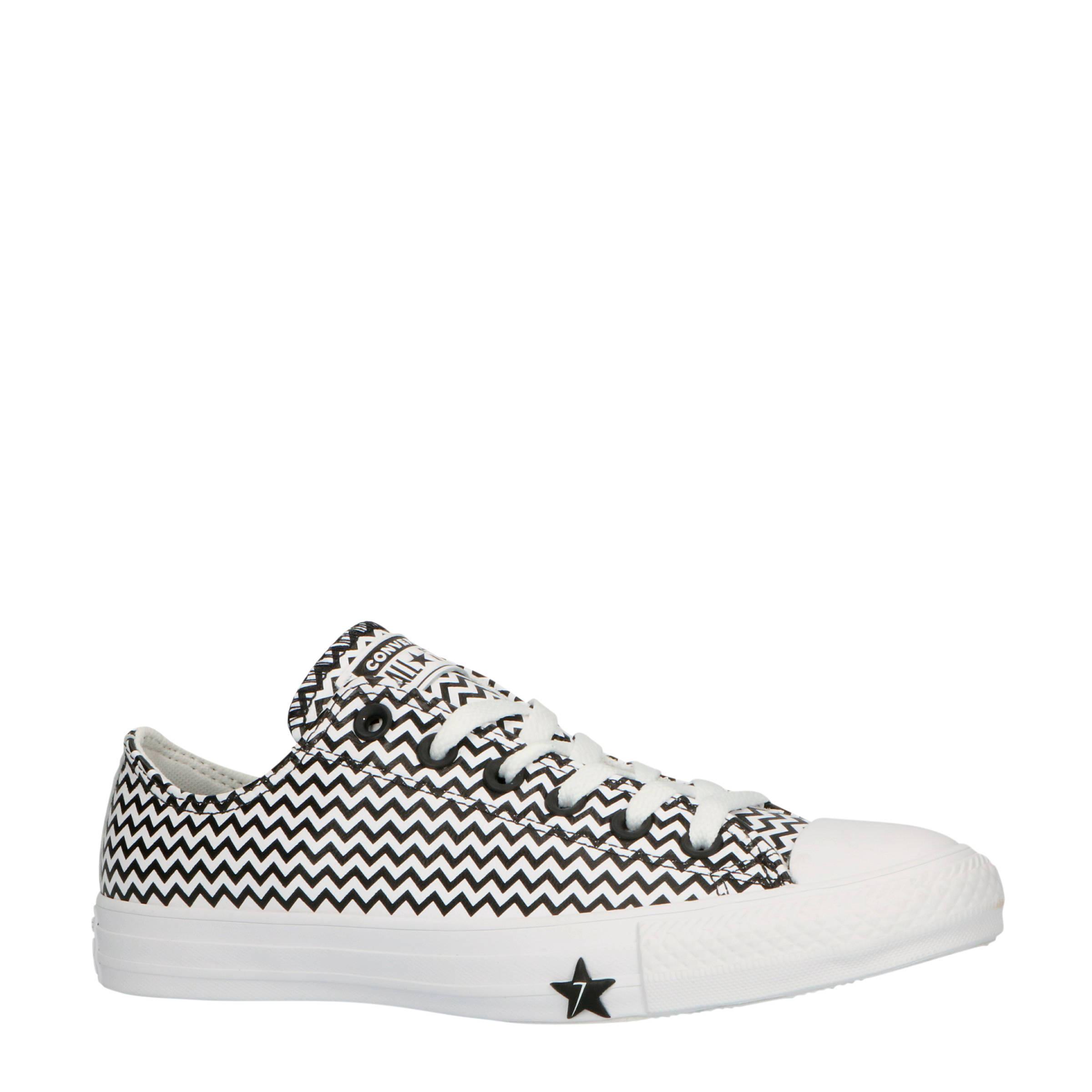 Converse Chuck Taylor All Star OX leren sneakers zwartwit