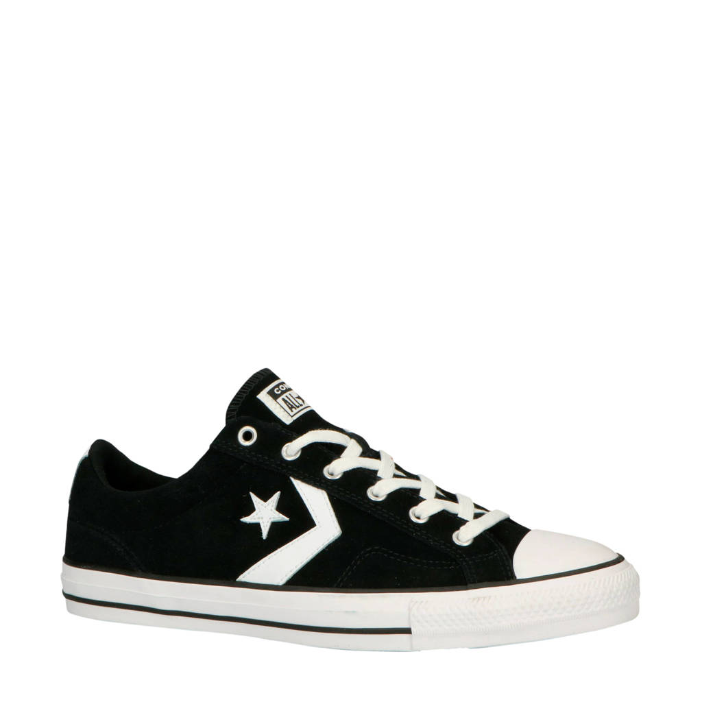 Converse  Star Player OX suède sneakers zwart/wit, Zwart/wit