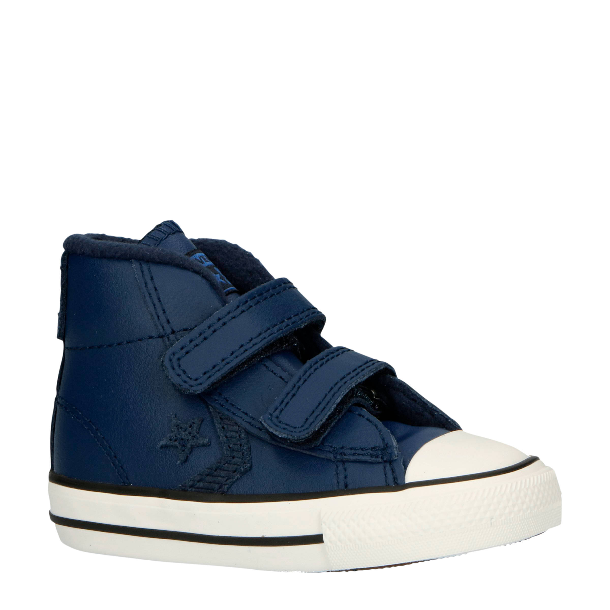 Converse Star Player 2V Mid halfhoge leren sneakers blauw