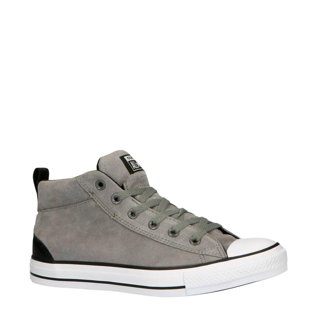 Converse  Chuck Taylor All Star Street Mid suède sneakers grijs, Grijs/zwart