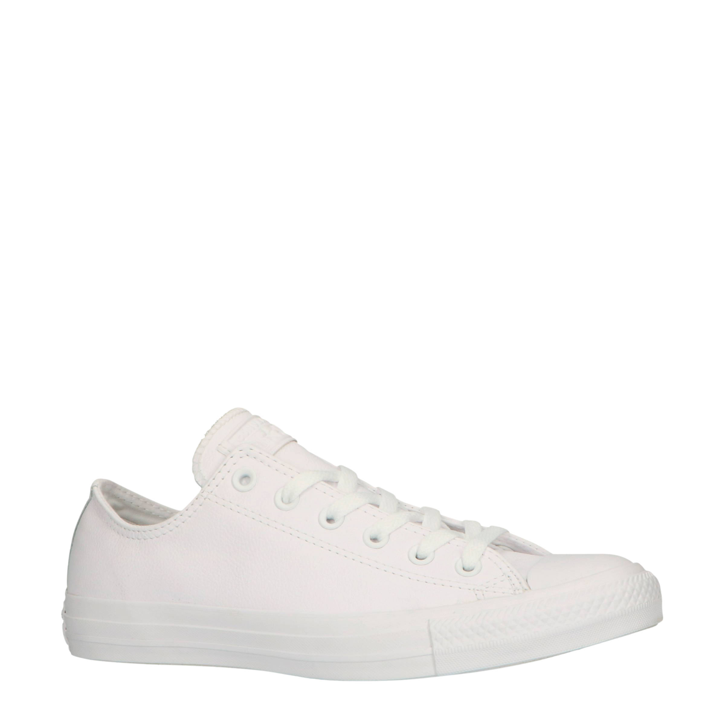 Converse Chuck Taylor All Star OX leren sneakers wit | wehkamp