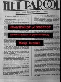 Krantenkop of Doofpot - Manja Croiset