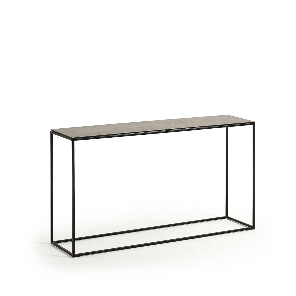 Kave Home sidetable Rewena, Donkerbruin