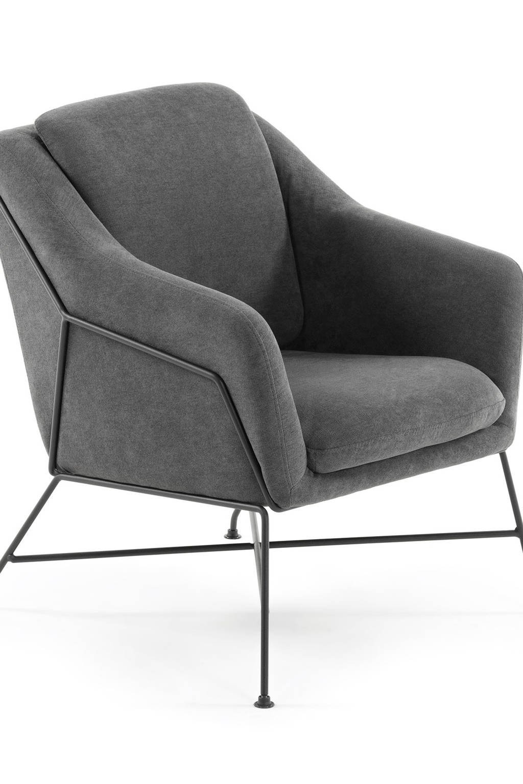 Kave Home fauteuil Brida, Donkergrijs