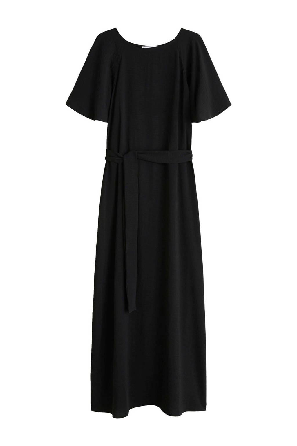 Mango maxi jurk zwart, Zwart