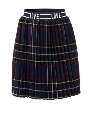 geruite rok donkerblauw/rood