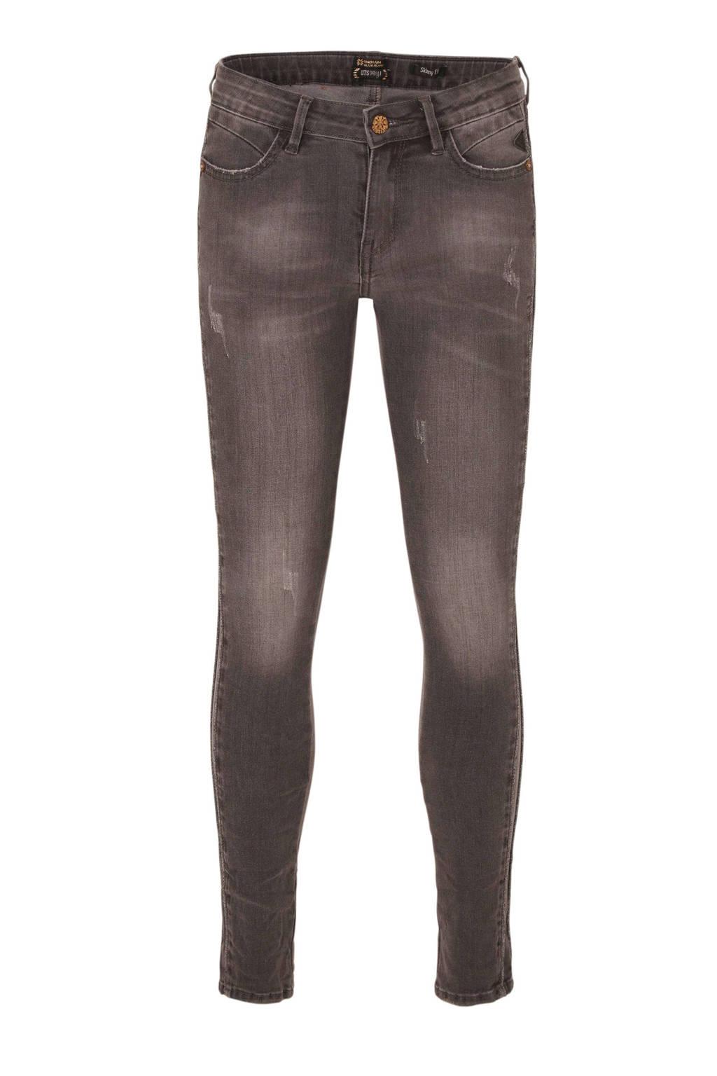 Indian Blue Jeans skinny jeans Nova met zijstreep grey denim, Grey denim