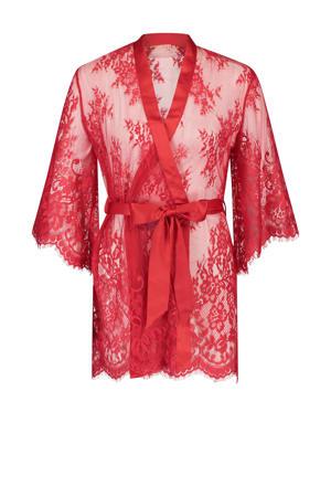 Private kanten kimono rood