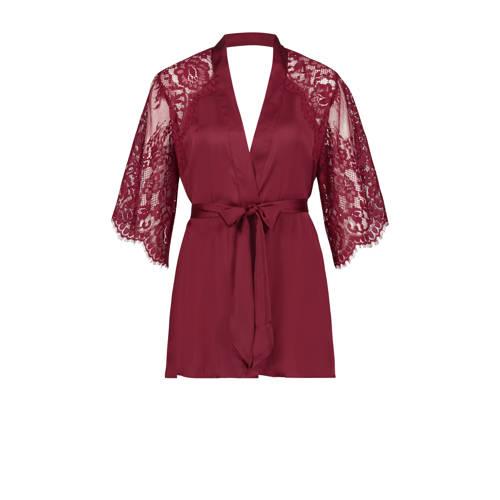 Hunkem??ller Private kimono met kant rood